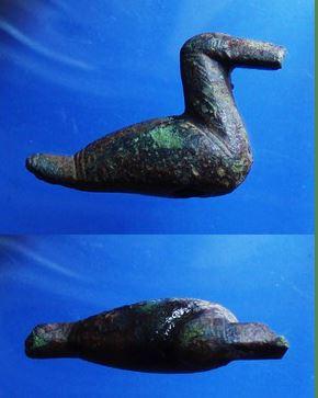 Bronzeand fundet af Rene Riber Larsen med XP Deus