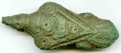 Fuglefibula germansk jernalder fundet af Leif Hartmann med XP Deus