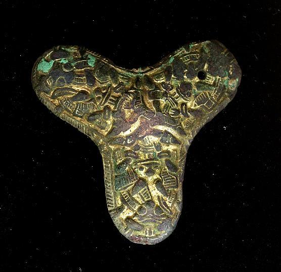 Trefliget fibula vikingetid fundet af Brian Wellbelove med XP Deus